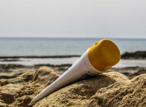 Sonnenschutzmittel, Sonnencreme, Strand