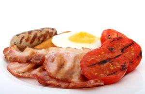 Cholesterinspiegel - Eier Bacon